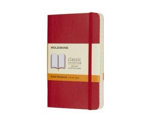 Moleskine Moleskine Notebook Pocket Soft Cover - Röd - Linjerad - Kalenderkungen.se