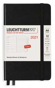 Kalender 2021 Leuchtturm1917 A6 vecka/uppslag black