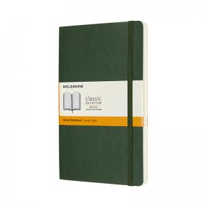 Moleskine Moleskine Classic Soft Large Ruled Notebook Myrtle Green - Kalenderkungen.se