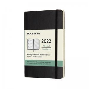 Moleskine Weekly Notebook Black soft pocket 2022