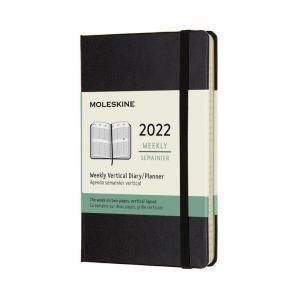 Moleskine Weekly Planner Vertical Svart hard pocket 2022