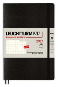 Leuchtturm Monthly planner 2021 B6 Black