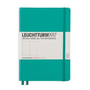 Leuchtturm1917 Leuchtturm Notebook A5 hard 249s Emerald dotted - Kalenderkungen.se