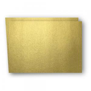 Papperix A6 Kort dubbla liggande 5-pack 220g Guld - Kalenderkungen.se