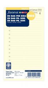 Filofax dagbok personal dag/sida 2022