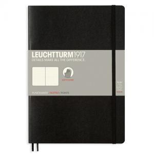 Leuchtturm1917 Leuchtturm Notebook B5 Soft 121s Black Dotted - Kalenderkungen.se