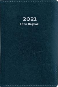 Liten dagbok blått konstläder 2021