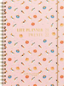 Life Planner Pink Horisontell 2021-2022
