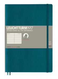 Leuchtturm Notebook ruled Pacific Green
