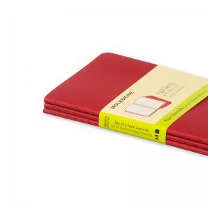 Moleskine Cahier Journal Pocket Plain - Röd