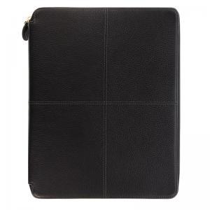 Classic Stitch Zip A4 Folio Black