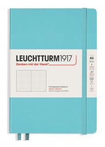 Leuchtturm Notebook A5 hard 249s Aquamarine dotted