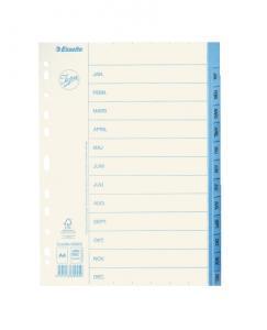 Emo Pappersregister JOPA A4 Jan-Dec vit/blå - Kalenderkungen.se