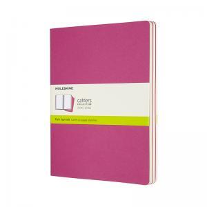 Moleskine Moleskine Cahier Journal Plain X-Large Pink - Kalenderkungen.se