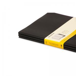 Moleskine Cahier Journal X-Large Squared - Svart