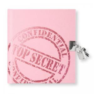 Dagbok med lås Top Secret Rosa