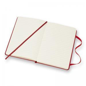 Moleskine Ruled Classic Notebook Pocket - Röd