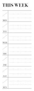 Stickers Kalendernotis Week Do it Office