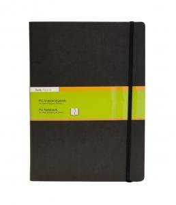 B.N.T PU Notebook A4 linjerad Svart - Kalenderkungen.se