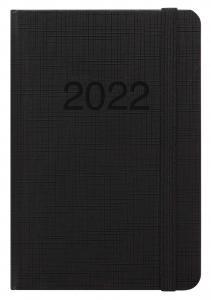 Kalender Letts Memo A6 Svart 2022