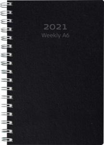 Weekly A6 svart miljökartong 2021
