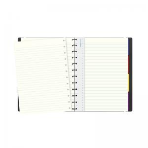 Filofax Notebook A4 linjerad svart
