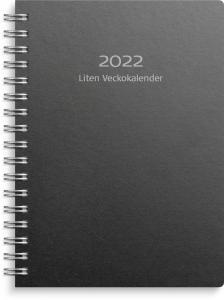 Liten Veckokalender svart miljökartong 2022