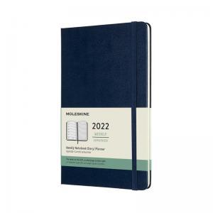 Moleskine Weekly Notebook Blue hard Large 2022