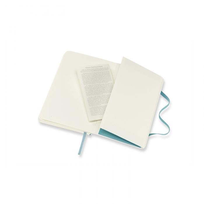 Moleskine Notebook Pocket Soft Cover - Reef Blue - Olinjerad