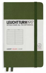 Leuchtturm1917 Leuchtturm A6 hard 185s Army linjerad - Kalenderkungen.se