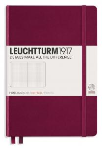 Leuchtturm1917 Leuchtturm Notebook A5 hard 249s Port Red dotted - Kalenderkungen.se
