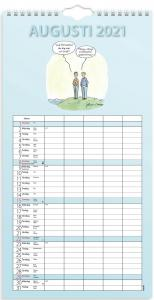 Väggkalender Familjens roliga 2021-2022