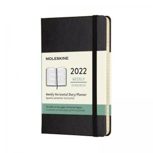 Moleskine Horizontal Weekly Black Hard pocket 2022