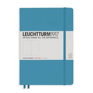 Leuchtturm1917 Leuchtturm Notebook A5 hard 249s nordic blue dotted - Kalenderkungen.se