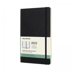 Moleskine Horizontal Weekly Black Soft Large 2022