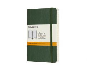 Moleskine Moleskine Classic Soft Pocket Ruled Notebook Myrtle Green - Kalenderkungen.se