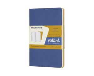 Moleskine Moleskine Volant Journal Ruled Pocket Forget-Me-Not Blue/Amber Yellow - Kalenderkungen.se