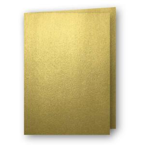A7 Kort dubbla stående 5-pack 220g Guld