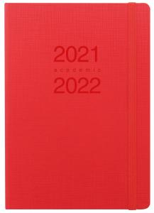 Kalender Letts Memo A5 röd studieåret 2021-2022
