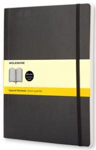 Moleskine Notebook X-large Soft Cover - Svart - Rutad