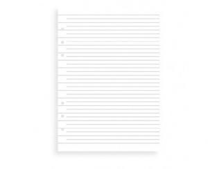 Filofax Refill A5 Clipbook linjerade blad - Kalenderkungen.se