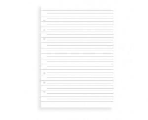 Refill A5 Clipbook linjerade blad