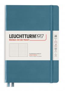 Leuchtturm Notebook A5 hard 249s Stone blue dotted