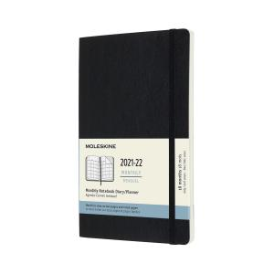 Moleskine Monthly Notebook svart soft large 21/22