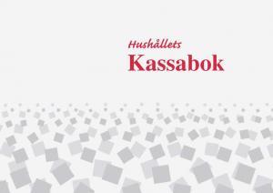 Burde Förlag Hushållets kassabok - A4 - 297x210mm - Kalenderkungen.se