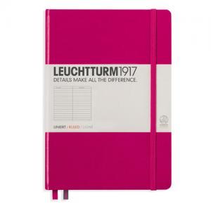 Leuchtturm1917 Leuchtturm Notebook A5 hard 249s Berry linjerad - Kalenderkungen.se