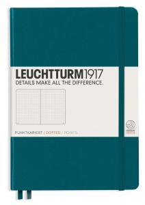Leuchtturm1917 Leuchtturm Notebook A5 hard 249s Pacific Green dotted - Kalenderkungen.se