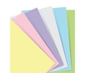 Extrablad pastellfärgade rutade till Filofax Notebook A5
