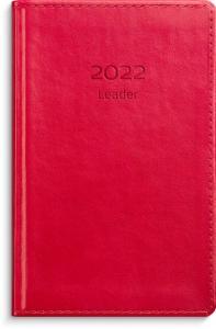 Leader rött konstläder 2022 inbunden