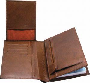 Kalenderplånbok Karavan brunt skinn 2021
